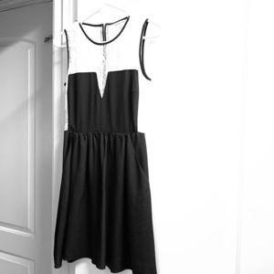 Rachel Roy Mini Skater lace top & pockets dress.